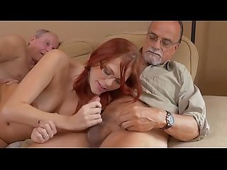 Redheaded Teen Zara Ryan Sucking And Fucked By Old Men
