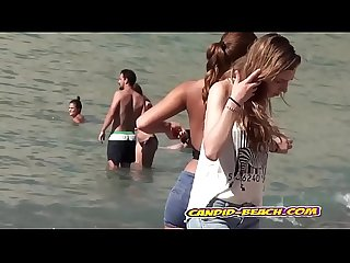 Amazing Topless And Nude Teens Spied by hidden cam voyeur beach