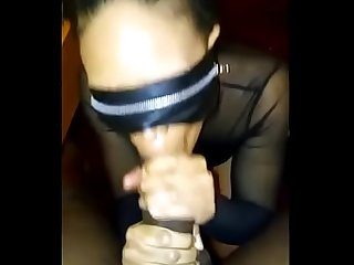 College Ebony Thot Sucking My Cock