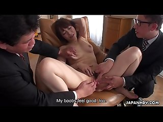 Japanese babe, Yui Ayana likes mmf and sex toys, uncensored