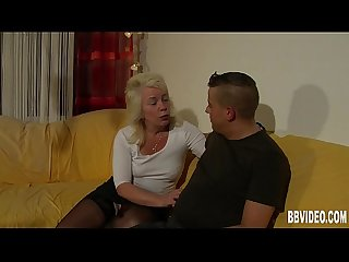 Blonde german milf take cock