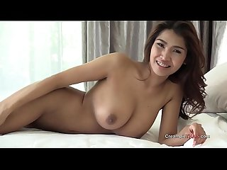 Big boobs on Thai girl creampie