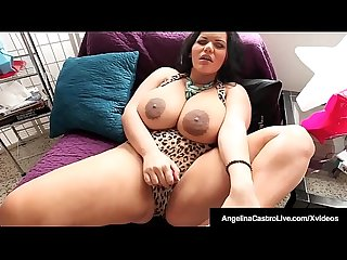 Curvy BBW Angelina Castro Sucks On Cum Filled Big Cock POV!