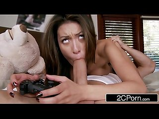 Jerk That Joy Stick - Big Tit Asian Teen Jayden Lee Is A Hardcore Video Gamer