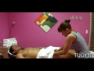 Babe enjoys making ribald massage