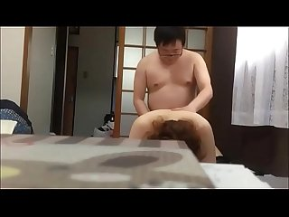 The korean fuckboy and his beautiful wife have sex in room..