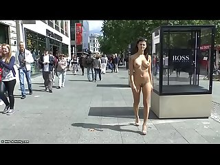 Crazy Babe Billy Naked In Public