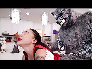 Little red riding hood sucking big dick