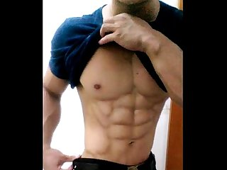 china chinese gay muscle guy young man amateur selfie solo wank jerking.off 中??? ??????..